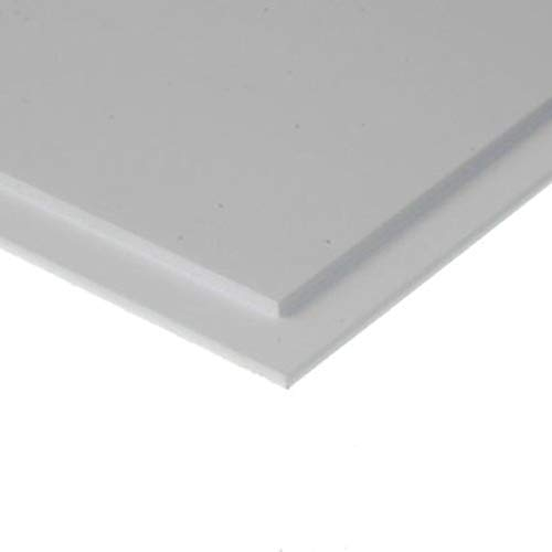 Evergreen 9040 - Placa de poliestireno (150 x 300 x 1,00 mm, 2 Unidades), Color Blanco