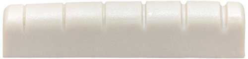 Graph Tech PQL-6010-00 TUSQ XL Pre-Slotted TUSQ Self-Lubricating Gibson Electric Style Guitar Nut, Flat Bottom