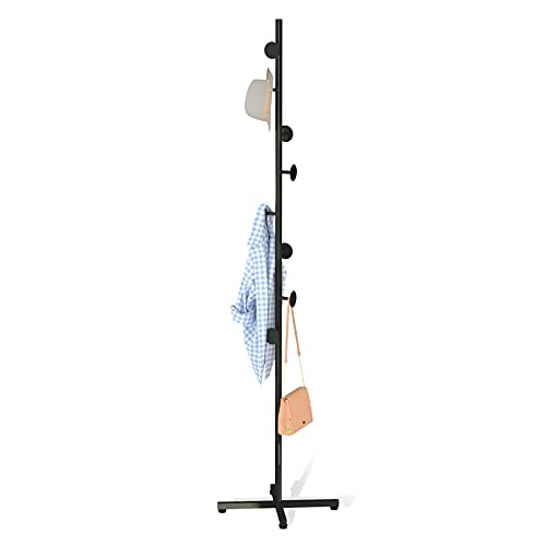CLSYO Coat Rack Free Standing Metal Stand Hall Tree Entry-Way Furniture for...
