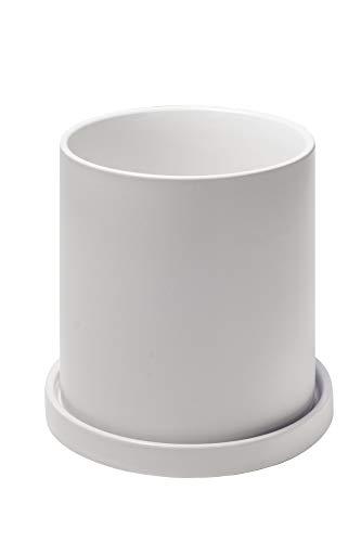 Ekirlin 植木鉢 陶器鉢 白 おしゃれ 受け皿付き 穴付き ?色 鉢 プランター 鉢植え 北欧 室内 インテリア 部屋 飾り 観葉植物 10.6cm 4号 多種サイズ/色選択可