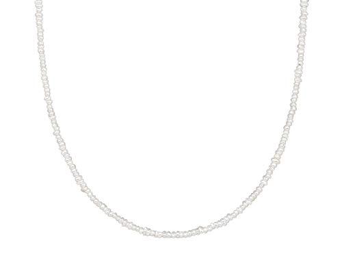Pernille Corydon Perlenkette Gold - Baroque Pearl Necklace/Shapes of Nature Serie - 38-43 cm - Silber 925 vergoldet - N113g
