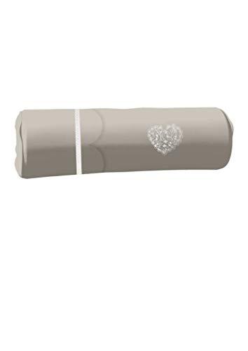 Cojín cilíndrico Bordado de algodón 20 x 50 cm Secret