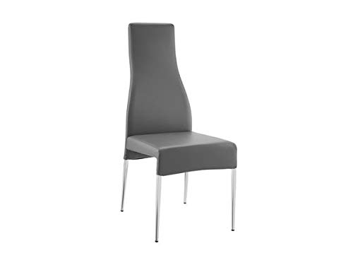 Graceful Eco-Leather Conference Chair in Gray and Chrome (Set of 2) Eco Leather Conference Chair