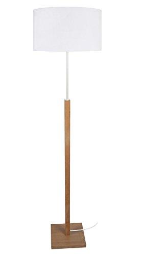 Preisvergleich Produktbild Tosel 51158 Stehleuchte 1 Licht,  Holz,  E27,  40 W,  weiß,  40 x 155 cm