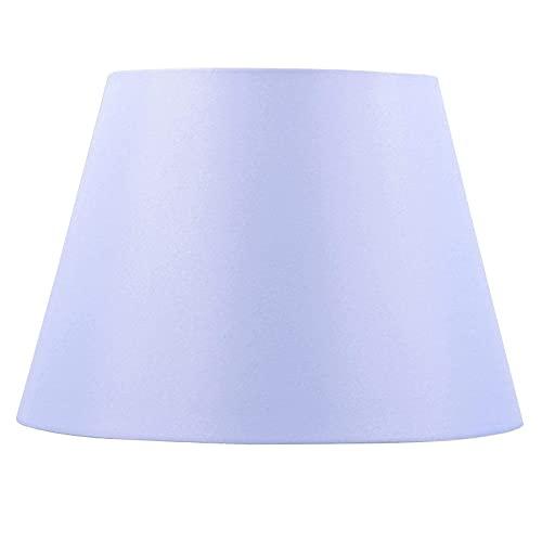 Linnen effect stof E27 tafel lampenkap – geplooide geplooide zijde stof – tafel/vloer lampvoeten &hanglampenkap,paars voor lamp