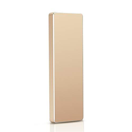 Portable 1TB External Hard Drive - Hard Drive External USB3.1 HDD for Mac Laptop PC (2TB, Gold)
