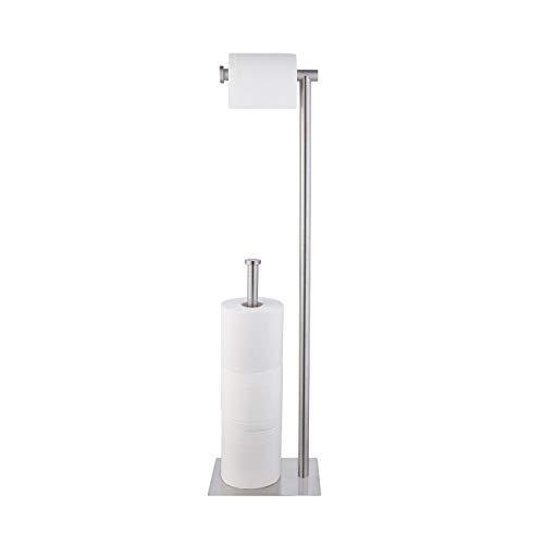 KES Toilettenpapierhalter Stehend Klorollenhalter Klopapierhalter Edelstahl SUS304 Toilettenrollenhalter Freistehend WC Rollenhalter Badezimmer Aufbewahrung Gebürstet, BPH286S1B-2