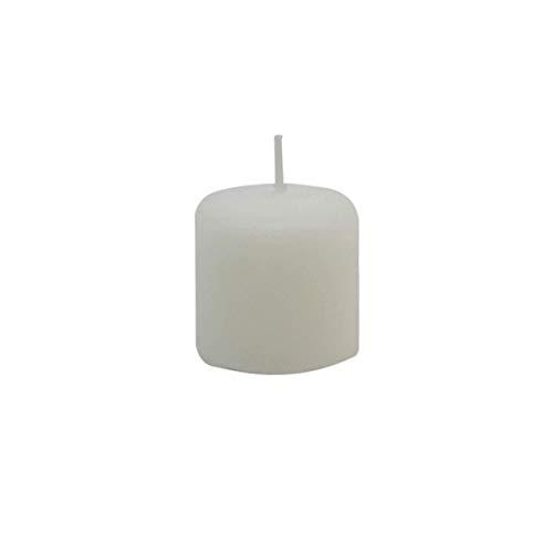 Fantasias Miguel Mylin Vela Pequeña Sin Aroma Decorativa 3.8 cm Pack 10 pzas Color Blanco
