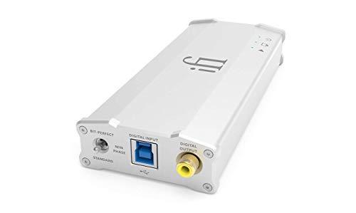 Input: USB 3.0 (compatibile anche USB 2.0) Output: SPDIF RCA (solo PCM oltre 192KHz), audio RCA, 3.5mm Per uso domestico o portatile