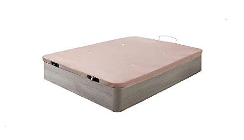HOGAR24 - Canapé abatible Madera Gran Capacidad con Tapa 3D y válvulas de transpiración, incorpora esquineras en Madera Maciza, Color Roble Cambrian (150X200)