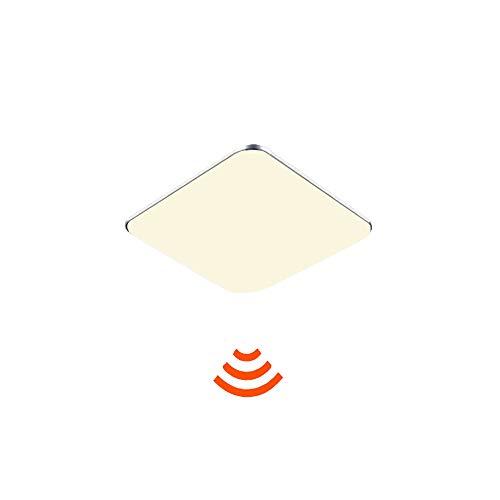 JINPIKER Keuken Hal plafondlamp 12W warm wit LED plafondlamp met bewegingsmelder Radar Sensorlamp, automatisch in- en uitschakelen