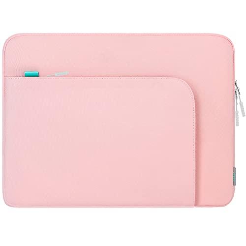 """Lacdo 13"""" Bolsa para laptop para 13""""New MacBook Pro A2338 M1 A2251 A2289 A2159, 13""""New MacBook Air A2337 M1 A2179 A1932, 12.9""""iPad Pro 5th 4th 3rd Bolsa para computador com Bolso Acessório,Cor de rosa"""