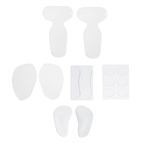 DOITOOL Almohadillas de silicona para el talón para mujer, antideslizantes, autoadhesivas, de silicona, para zapatos o tacones altos demasiado grandes
