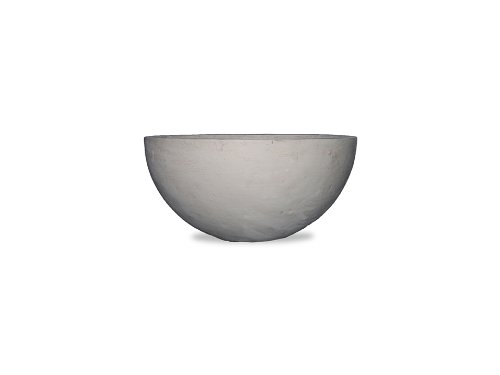 Amedeo Design ResinStone 2513-33L Bowl Planter, 12 by 12 by 5.5-Inch, Limestone