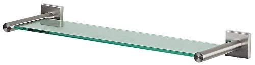 Spirella Wand-Glasablage NYO Badezimmerablage Ablage Wandablage für das Badezimmer aus Glas und Edelstahl 40cm - zum kleben und Bohren