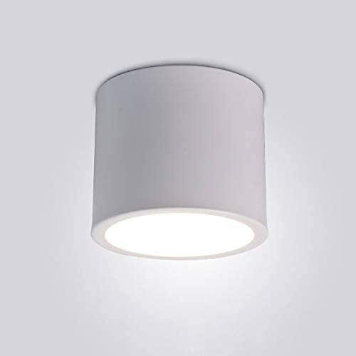 ウルトラブライト7Wストロボスポットライト表面マウント天井LEDダウンライトランプシングルアンチグレアラウンド天井ランプホームリビングルームテレビ背景壁塗装ランプ壁画スポットライトフィクスチャ (Color : White, Size : Warm light)