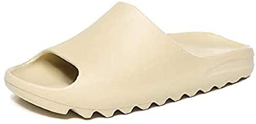 LOPP Unisex Slide Sandal Summer Slippers Non-Slip Soft Platform Pool Cartoon Slides, Indoor & Outdoor House EVA Big Y-e-e-z-y Slippers Shoes for Men Women Teenagers (7.5 Women/7 Men,Beige)