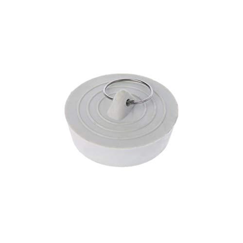 Yanhonin Silikon-Waschbeckenstöpsel für Küchenspüle, Waschbecken, Silikon, weiß, 3#