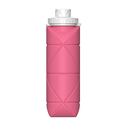 Botella de agua plegable plegable de silicona recorrido de la taza de compresión de la botella de la bebida para la comida campestre que acampa portable de fugas a prueba de recorrido de la botella