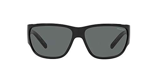 ARNETTE An4280 Wolflight - Gafas de sol rectangulares para hombre, Negro/Gris polarizado.,