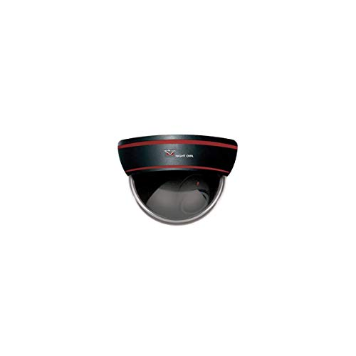 Night Owl Security DUM-DOME-B Decoy Dome Camera with Flashing LED Light,Black