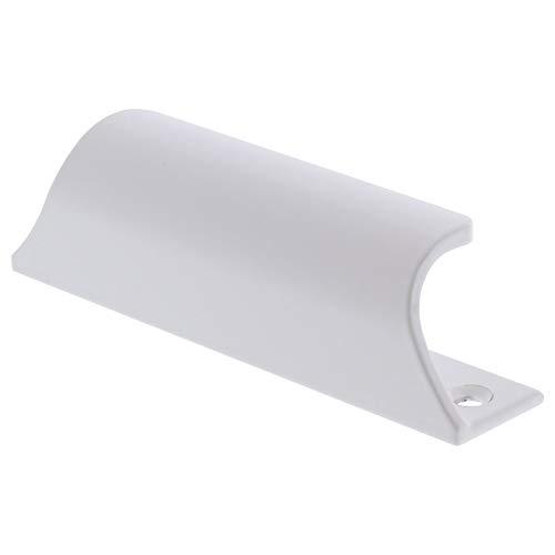 ToniTec® Hebetürgriff Modell 8052 90mm Terassentürgriff außen in weiß und silber | Balkongriff Türgriff Fenstergriff | 1 Stück | Oberfläche: weiß