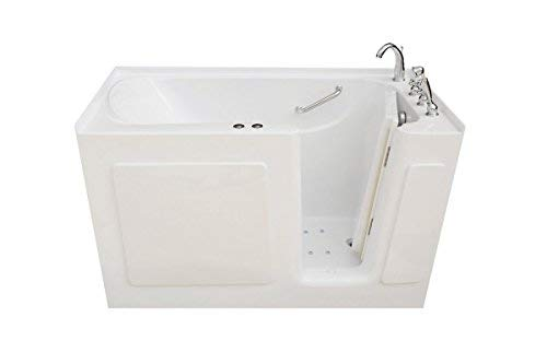 Signature Bath LPI6030-C-RD Walkin Air Injection and Whirlpool Bathtub with Right Drain and Door, 60' x 30' x 38', White