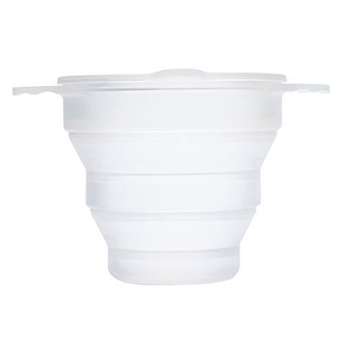 Ruby Clean - faltbarer Reinigungsbecher aus Silikon zum Sterilisieren von Menstruationstassen- geeignet für die meisten Menstruationstassen-Sterilisation in der Mikrowelle/Backofen - TRANSPARENT