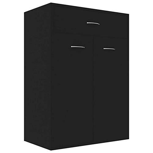 L.TSN Zapatero con cajón de Almacenamiento y 4 estantes Aglomerado 2 Puertas Organizador de Zapatero para Dormitorio, Entrada, Pasillo, Muebles para el hogar 23,6 x 13,7 x 33 Pulgadas (Largo x ANC