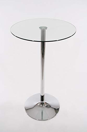 Stehtisch Transparent rund Glas 104 cm Bistrotisch Tisch Bartisch