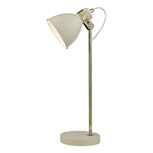 DAR FREDERICK - Lámpara de mesa Task Task latón envejecido crema brillante