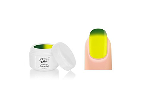 Gel ongles uv thermique Prenium Thermo Néon Vert-jaune 5 ml Vylet nails