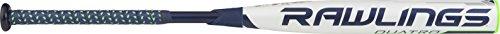 Rawlings Quatro 4pc 10 Softball Bat, Blue/White, 32'/22 oz