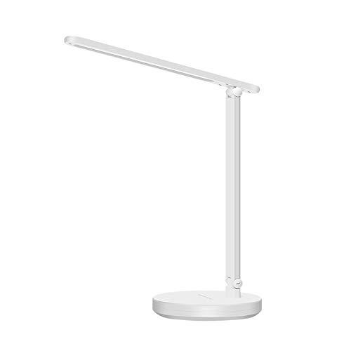 Lámpara Escritorio LED Ajustable La luz Protege los Ojos Plegable Recargable USB 5 Modos, 10 Niveles de Brillo para Adulto Infantil Estudiar y Trabajar