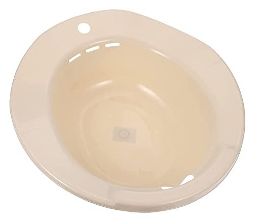 LIXBD Sitzbadewanne für Toilettensitz, Stillsitz, Badewanne, Waschbecken, für Schwangere nach der Geburt, Perineum-Pflege, Hämorrhoiden, Erholungsblau (Farbe: Beige)