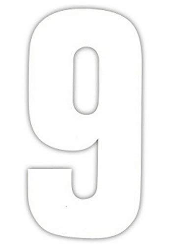 Zelfklevende stickers voor vuilnisbakken met witte nummer - 9