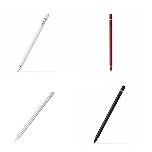 Lápiz táctil para Tablet Pc, teléfono Inteligente, lápiz óptico, sensibilidad a la inclinación para Pro 9.7, 10.5, 11 12.9, 1st 2nd 3rd 6th Smart Pencil (Red)