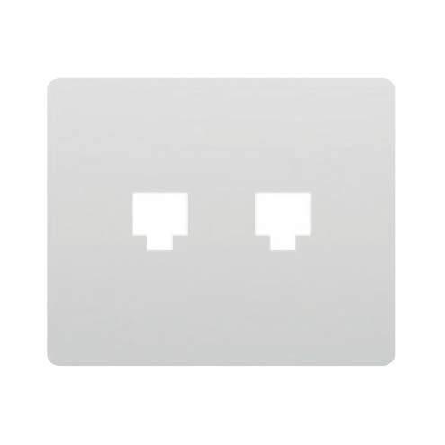 Bjc - 19882 tapa para adaptador doble (rj11-rj45) iris blanco Ref. 6531010248