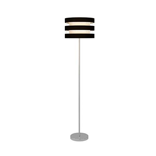 ZJY Staande lampen, moderne vloerlamp, smeedijzer, verticaal vloerlicht, creatieve stof, lampenkap, start, E27, slaapkamer, woonkamer, bed, kop, sofalamp, staande lamp