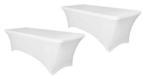 Événement Linens Noir Spandex Cocktail Table Cover-Fitted Haut Top Table Cloth,