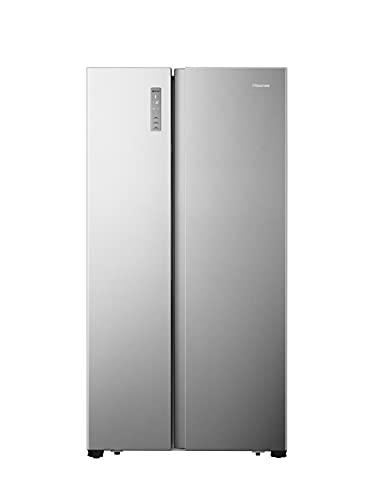 Hisense RS677N4BIE Side-by-Side Kühl-Gefrierkombination/ NoFrostPlus/ Multiflow 360°/ SuperCool/ BigBox/ 179,3 cm/ Kühlteil 334 l/ Gefrierteil 185 l/ 42 dB/ 309 kWh/ Jahr/ Inox-Look