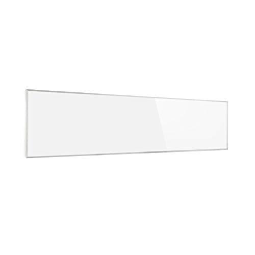 KLARSTEIN Wonderwall Air - Pannello di Riscaldamento, Infrarossi, Carbon Crystal Infrared, IRComfortHeat, Rilevatore Finestre Aperte, Antiallergico, Termostato, Bianco Neve, 360W, 120x30 cm