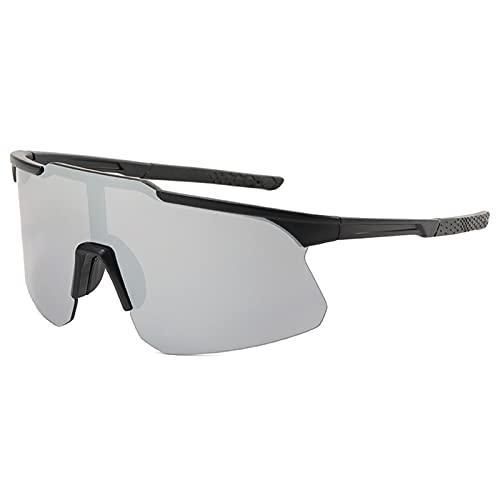 Dingyue Gafas de sol rectangulares para hombre, lente de PC, cierre suave, ultraligeras para conducción al aire libre