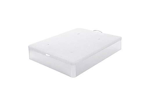 Kamasof Divano letto in legno apribile, 150 x 190 cm, idraulico - colore bianco