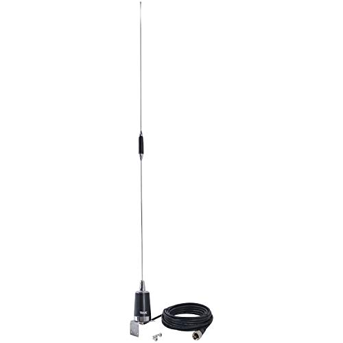 TRAM(R) 10280 144mhz/430mhz Dual-Band Pre-Tuned Amateur Trunk/Hole Mount Antenna, Silver