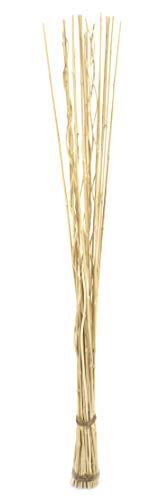 DARO DEKO Weiden-Zweige Bündel hell-braun mit Bambus - 165cm lang