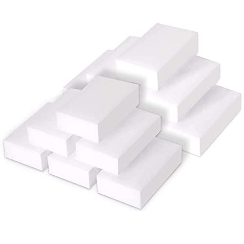 KATELUO 24 pièces éponges,éponges Magiques,Elles sont idéales pour enlever les traces de rayures tenaces des chaussures,et pour graisser les taches des comptoirs et les coins sales. (Blanc, 24 Pièces)