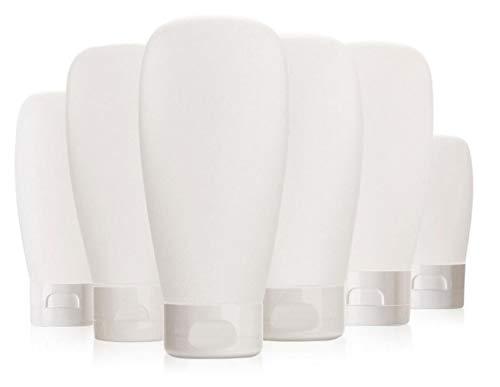 6 x 150ml transparente Kunststoff-Leere nachfüllbare Kosmetik-Tuben Quetschflasche mit Klappdeckel Make-up-Probebehälter Spender für Gesichtsreiniger Shampoo Körper Handlotion Duschgel durchsichtig