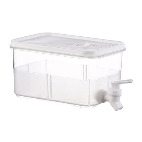 Frotox Dispensador de Bebidas con Grifo, dispensador de Agua para Nevera, dispensador de Agua de plástico con Tapa, Transparente, para Fiestas, Bodas, Restaurante (3L / 5L)