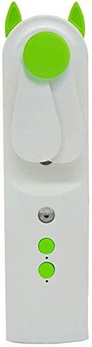miwaimao Ventilador portátil de aire acondicionado, mini humidificador de aire personal, humidificador portátil, mini ventilador de mano, humidificador de oficina de purificación de aire, verde